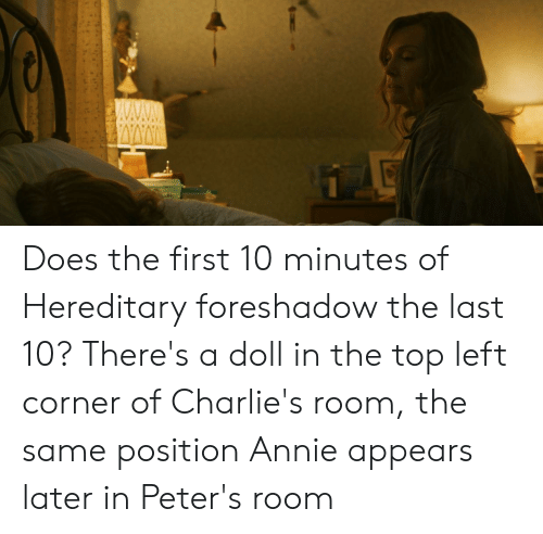 Does the First 10 Minutes of Hereditary Foreshadow the Last