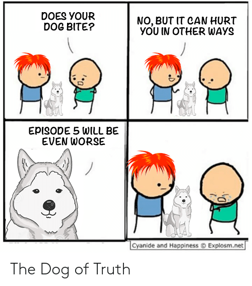 DOES YOUR DOG BITE? NO BUT IT CAN HURT YOU IN OTHER WAYS