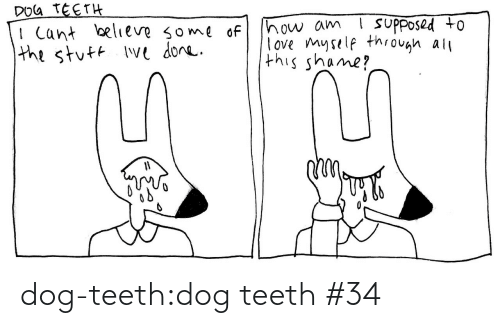 believe: DOG TEETH  I Cant believe some of  the stuft Ive done.  ! suPposed to  how am  love myself through all  this shame? dog-teeth:dog teeth #34