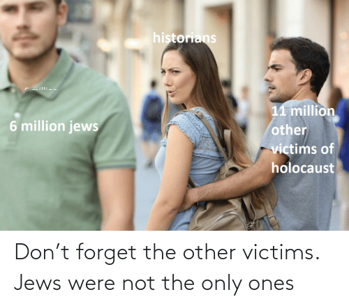 jews: Don't forget the other victims. Jews were not the only ones