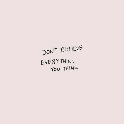Believe, Think, and You: DONT BELIEVE  EVERYTHING  You THINK