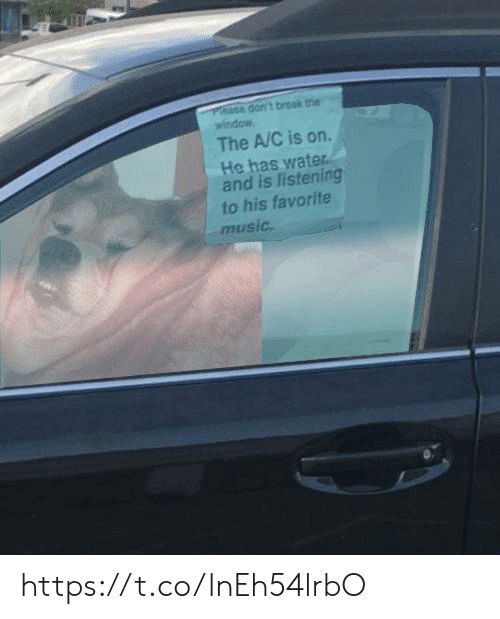 The A: dont break the  window  The A/C is on  He has water  and is listening  to his favorite  music. https://t.co/lnEh54lrbO