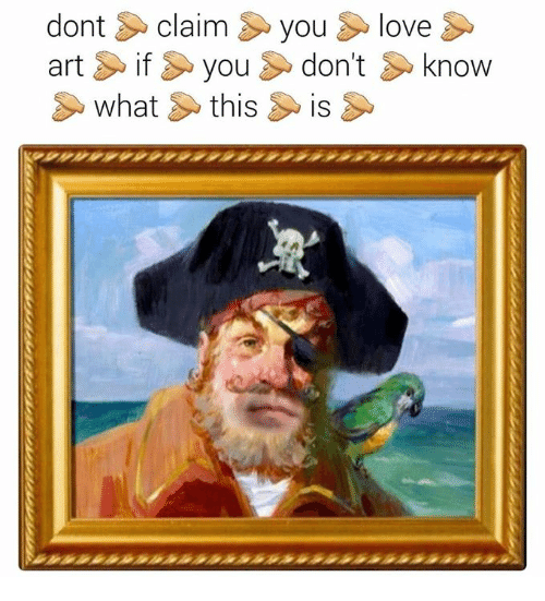 Love, Classical Art, and You: dont claim you love  artif you don't know  what this is