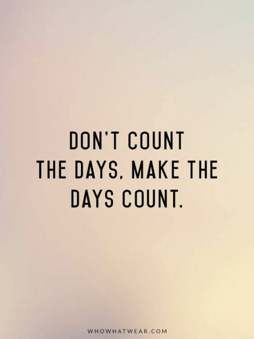 Com, Make, and  Days: DON'T COUNT  THE DAYS, MAKE THE  DAYS COUNT  WHOWHATWEAR.COM