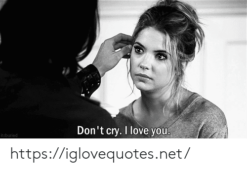 Dont Cry: Don't cry. I love you  itsburied https://iglovequotes.net/