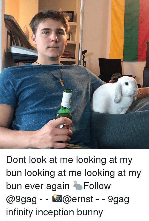 Inception: Dont look at me looking at my bun looking at me looking at my bun ever again 🐇Follow @9gag - - 📸@ernst - - 9gag infinity inception bunny