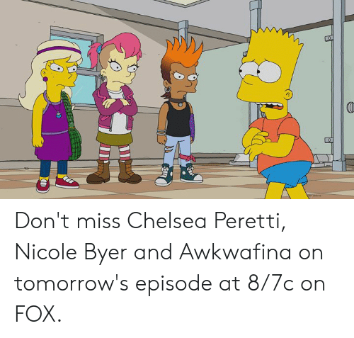 Chelsea, Dank, and Chelsea Peretti: Don't miss Chelsea Peretti, Nicole Byer and Awkwafina on tomorrow's episode at 8/7c on FOX.