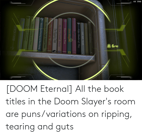ripping: [DOOM Eternal] All the book titles in the Doom Slayer's room are puns/variations on ripping, tearing and guts