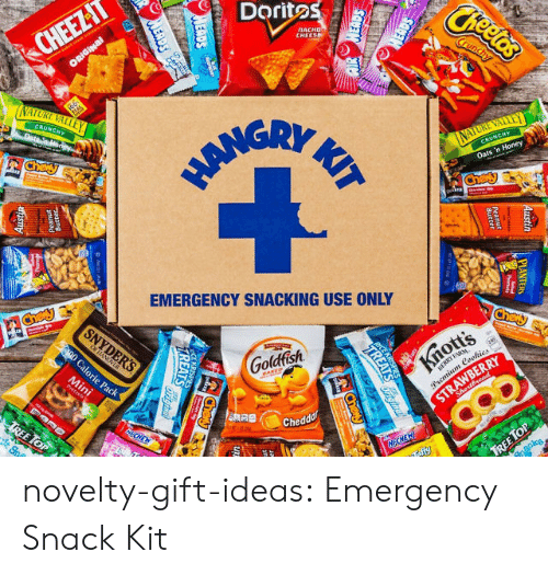 Goldfish, Tumblr, and Blog: Doritos  CHEE  ATTE  EMERGENCY SNACKING USE ONLY  Goldfish  Chedd novelty-gift-ideas:  Emergency Snack Kit