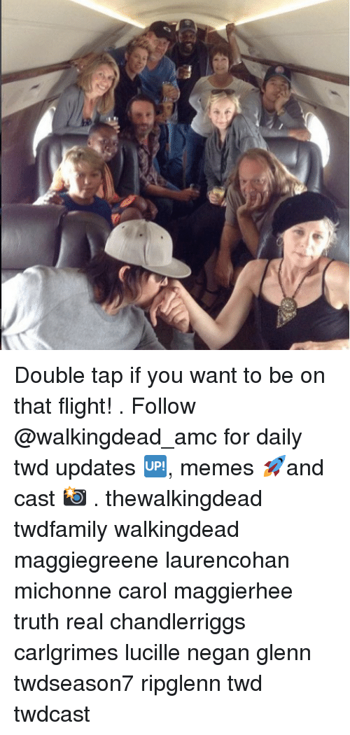 Carole: Double tap if you want to be on that flight! . Follow @walkingdead_amc for daily twd updates 🆙, memes 🚀and cast 📸 . thewalkingdead twdfamily walkingdead maggiegreene laurencohan michonne carol maggierhee truth real chandlerriggs carlgrimes lucille negan glenn twdseason7 ripglenn twd twdcast