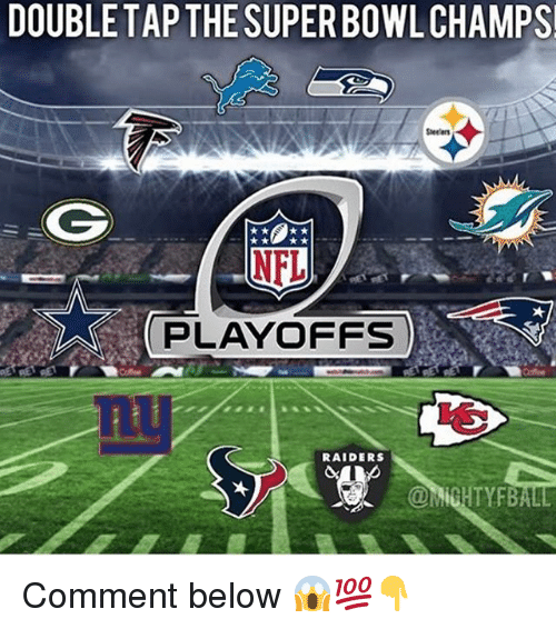 NFL playoffs: DOUBLE TAP THE SUPER BOWL CHAMPS!  Steelers  NFL  PLAYOFFS  RAIDERS Comment below 😱💯👇