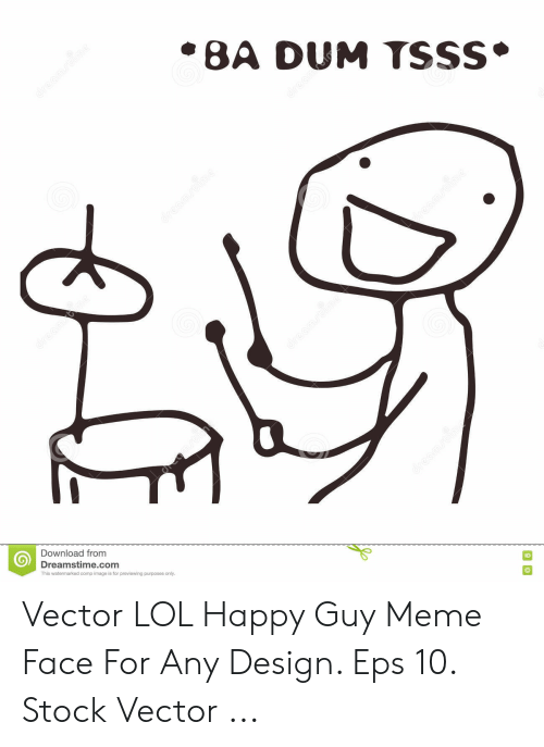 Lol, Meme, and Happy: Download from  ID  Dreamstime.com  This watermarked comp image is for previewing purposes only. Vector LOL Happy Guy Meme Face For Any Design. Eps 10. Stock Vector ...