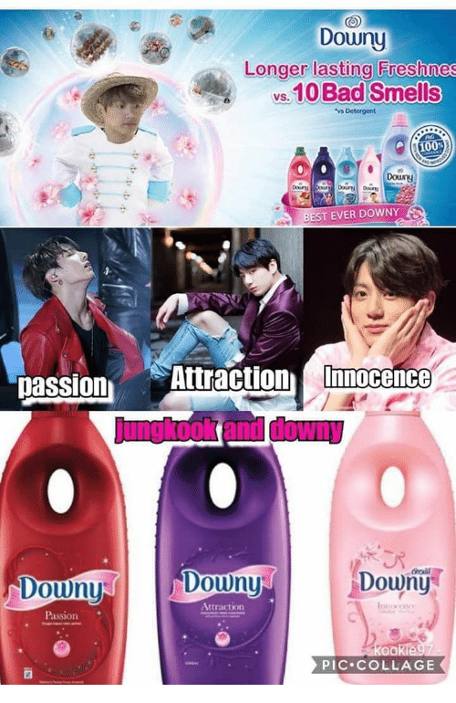 Bad, Downy, and Best: Downy  Longer lasting Freshnes  s.10 Bad Smells  Douny  BEST EVER DOWNY  passion Attraction Imocene  Downy  rali  Doun  Douny  Attraction  Passion  PIC COLLAGE