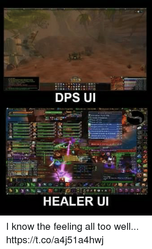 Healer, All, and Dps: DPS U  HEALER UI I know the feeling all too well... https://t.co/a4j51a4hwj