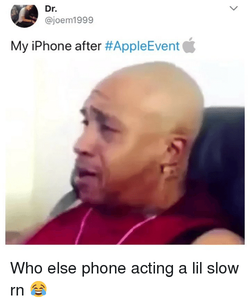 Funny, Iphone, and Phone: Dr.  @joem1999  My iPhone after Who else phone acting a lil slow rn 😂