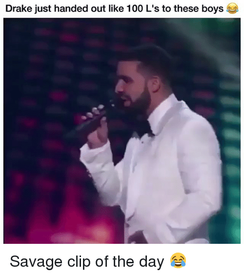 Anaconda, Drake, and Funny: Drake just handed out like 100 L's to these boys Savage clip of the day 😂