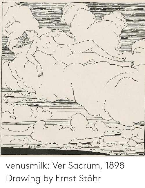 caption: dreamste venusmilk:  Ver Sacrum, 1898 Drawing by Ernst Stöhr