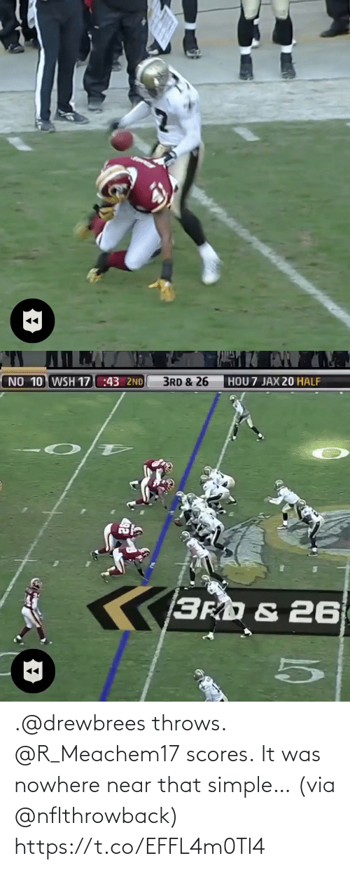 Near: .@drewbrees throws. @R_Meachem17 scores.  It was nowhere near that simple… (via @nflthrowback) https://t.co/EFFL4m0Tl4