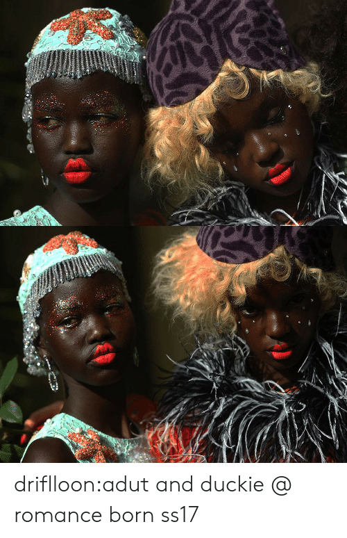 Tumblr, Blog, and Com: driflloon:adut and duckie @ romance born ss17