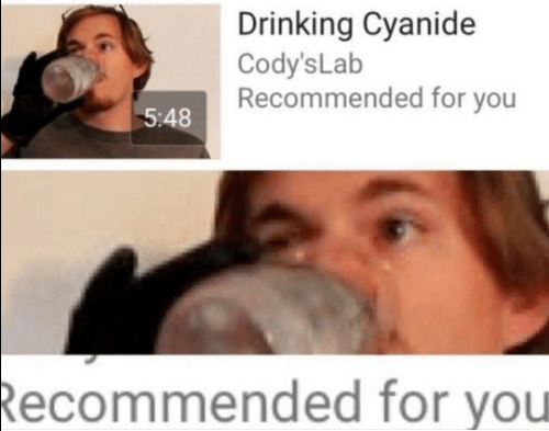 Drinking, Cyanide, and You: Drinking Cyanide  Cody's Lab  Recommended for you  5:48  Recommended for you