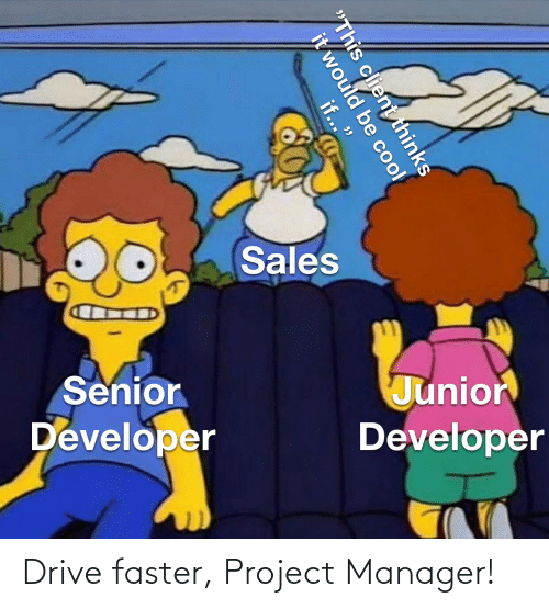 manager: Drive faster, Project Manager!