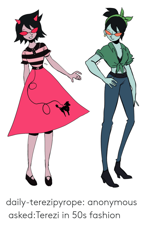 Fashion, Target, and Tumblr: DTP daily-terezipyrope:  anonymous asked:Terezi in 50s fashion