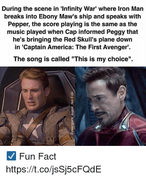 During the Scene in 'Infinity War' Where Iron Man Breaks