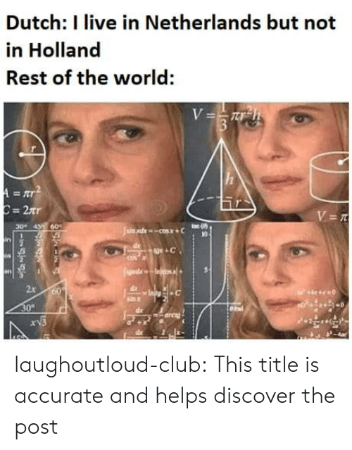 Club, Tumblr, and Blog: Dutch: I live in Netherlands but not  in Holland  Rest of the world:  30 43 60  10  in  2x  30%  areng laughoutloud-club:  This title is accurate and helps discover the post