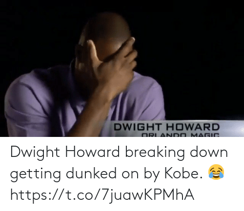 breaking down: Dwight Howard breaking down getting dunked on by Kobe. 😂 https://t.co/7juawKPMhA