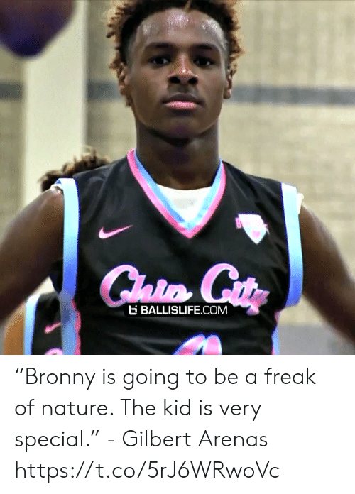 "Memes, Gilbert Arenas, and Nature: E BALLISLIFE COM ""Bronny is going to be a freak of nature. The kid is very special."" - Gilbert Arenas    https://t.co/5rJ6WRwoVc"