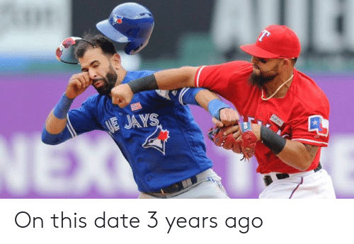 Jay, Mlb, and Date: E JAY On this date 3 years ago