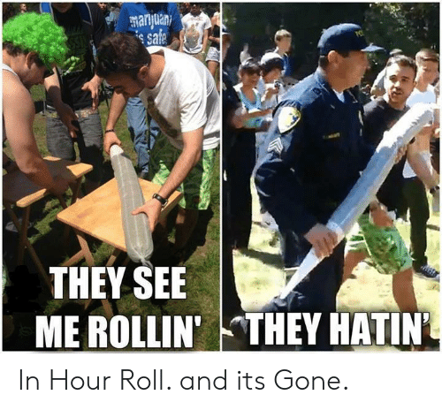 Rollin They Hatin: e sa  THEY SEE  ME ROLLIN'  THEY HATIN. In Hour Roll. and its Gone.