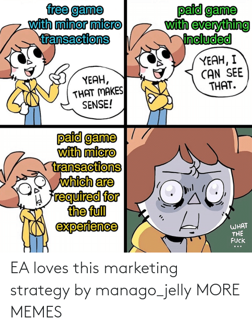 strategy: EA loves this marketing strategy by manago_jelly MORE MEMES