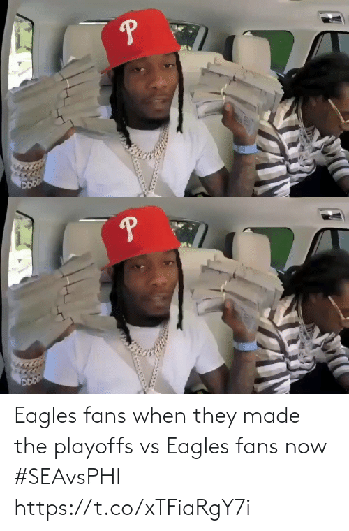 Philadelphia Eagles: Eagles fans when they made the playoffs vs Eagles fans now #SEAvsPHI https://t.co/xTFiaRgY7i