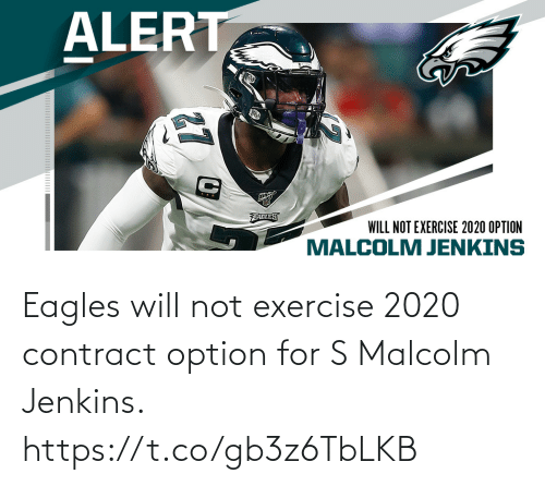 Will Not: Eagles will not exercise 2020 contract option for S Malcolm Jenkins. https://t.co/gb3z6TbLKB