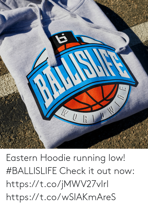 Running: Eastern Hoodie running low! #BALLISLIFE   Check it out now: https://t.co/jMWV27vIrl https://t.co/wSIAKmAreS