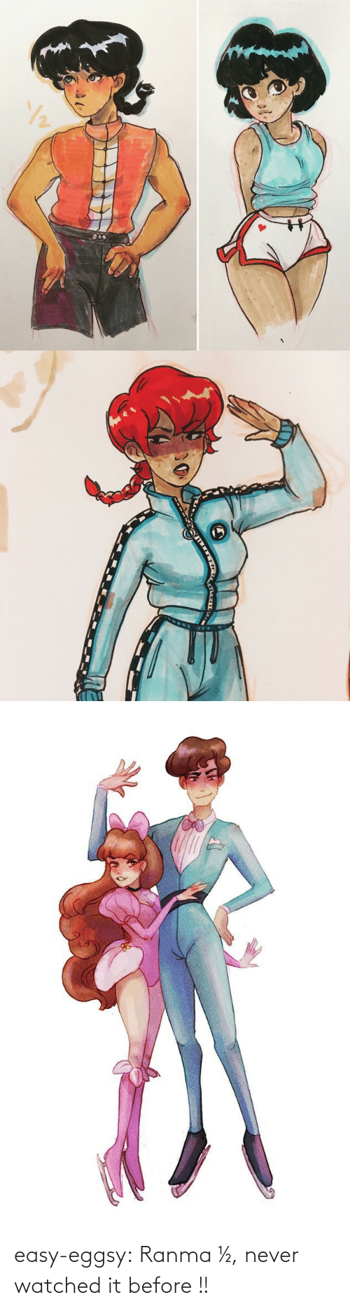 Target, Tumblr, and Blog: easy-eggsy:  Ranma ½, never watched it before !!