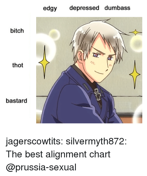 Bitch, Target, and Thot: edgy depressed dumbass  bitch  thot  bastard jagerscowtits: silvermyth872:  The best alignment chart  @prussia-sexual
