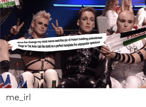 Meme, Change, and Mind: een  ww  since the change my mind meme died this pic of Hatari holding palestinian  flags in Tel Aviv can be used as a perfect template for unpopolar opinions  PALLS me_irl