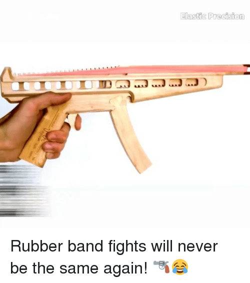 Memes, 🤖, and Rubber: Elastic Precision Rubber band fights will never be the same again! 🔫😂