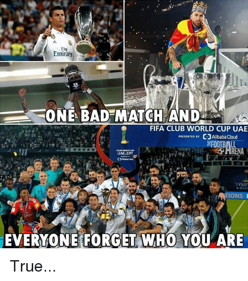 Bad, Club, and Fifa: ElV  ONE BAD MATCH AND  FIFA CLUB WORLD CUP UAE  PRESENTED BY 더]AlibabaCloud  RENA  EVERYONE FORGET WHO YOU ARE True...