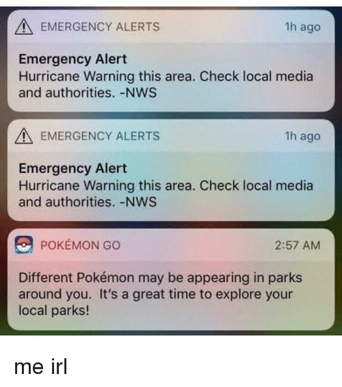 EMERGENCY ALERTS 1h Ago Emergency Alert Hurricane Warning This Area