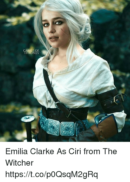 Emilia Clarke: Emilia Clarke As Ciri from The Witcher https://t.co/p0QsqM2gRq