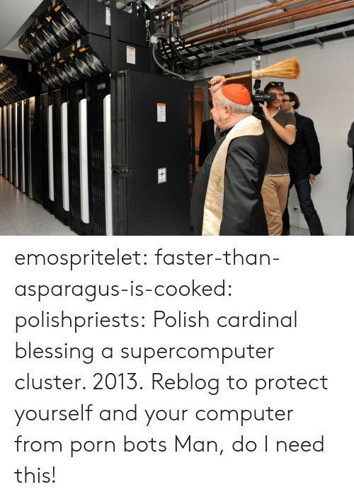 Polishable: emospritelet: faster-than-asparagus-is-cooked:  polishpriests:  Polish cardinal blessing a supercomputer cluster. 2013.  Reblog to protect yourself and your computer from porn bots  Man, do I need this!
