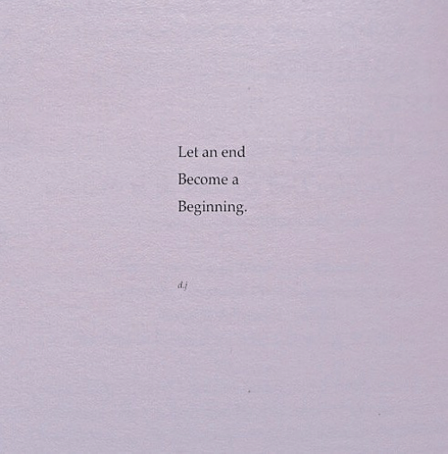End, Let, and Beginning: end  Let an  Become a  Beginning.  d.j