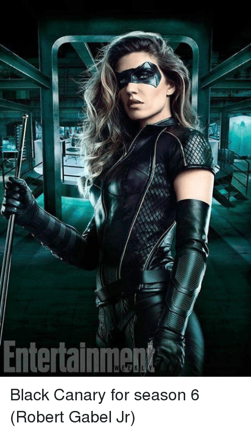 Season 6: Entertainment Black Canary for season 6 (Robert Gabel Jr)