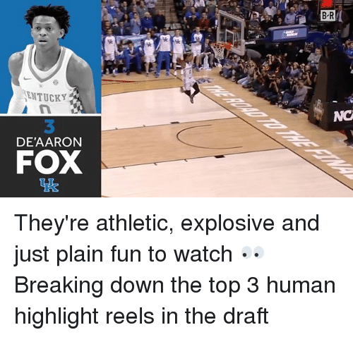 Sports, Watch, and Fox: ENTUCKY  DE AARON  FOX  BR They're athletic, explosive and just plain fun to watch 👀 Breaking down the top 3 human highlight reels in the draft