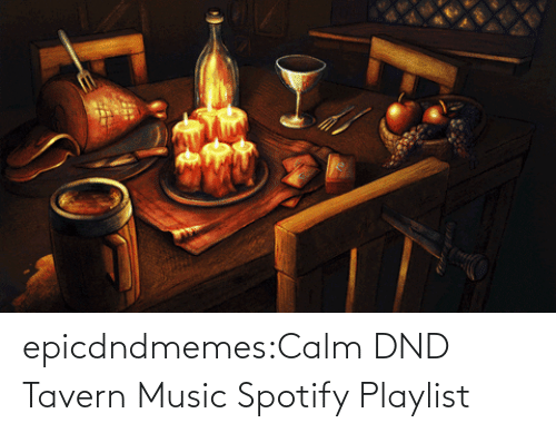 calm: epicdndmemes:Calm DND Tavern Music Spotify Playlist