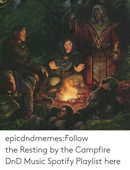 follow: epicdndmemes:Follow the Resting by the Campfire DnD Music Spotify Playlist here