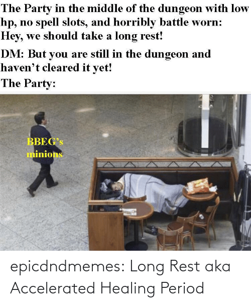 period: epicdndmemes:  Long Rest aka Accelerated Healing Period